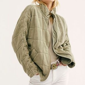 NWOT Free People Dolman Quilted Knit Jacket